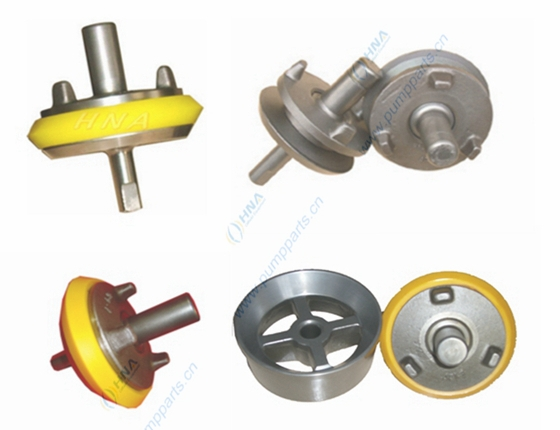 中央阀杆式整体锻造阀体--阀螺母快装式可更换聚氨酯胶皮-- CFN型