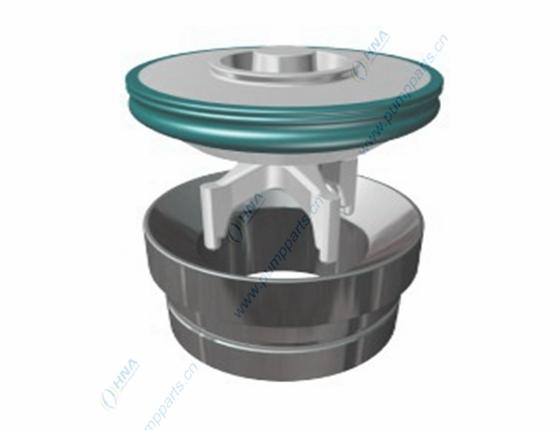 阀爪式整体锻造阀体,柱塞泵/压裂泵用--硫化一体式聚氨酯胶皮 -- BFB型