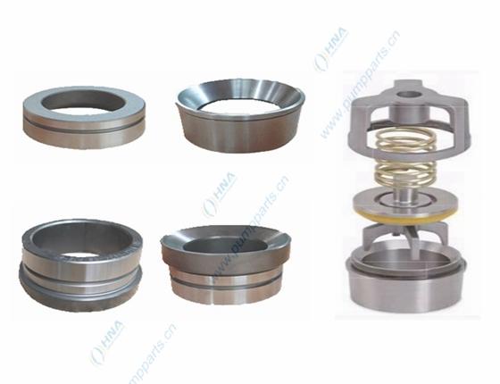 整体锻造阀座,柱塞/压裂泵用-- 通孔式,带弹簧支架式